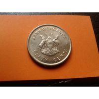 С рубля! Банк Уганды! 50 центов. Восточная Африка. В коллекцию!