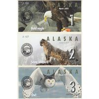 Аляска Набор 6 бон 2016 год  UNC