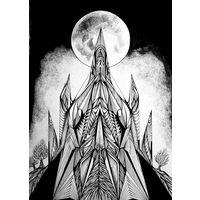 Авторский рисунок тушью на ватмане. Размер А3