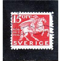Швеция.Ми-229.Почтальон. Серия: 300 лет шведской почтовой службы.1936.