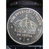 Швеция 1 крона 2001 г.
