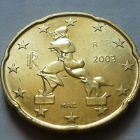 20 евроцентов, Италия 2003 г.