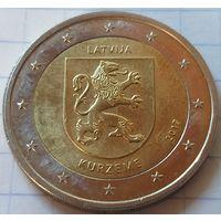 Латвия 2 евро, 2017 Исторические области Латвии - Курземе    ( 3-9-4 )