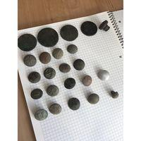 Монеты пуговицы печать