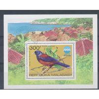 [1434] Мадагаскар 1975.Фауна.Птицы.  Гашеный блок.