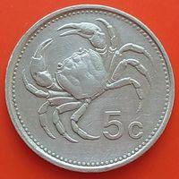 5 центов 1986 МАЛЬТА