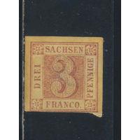 Саксония Германия 1850 Номинал Стандарт  #1*