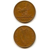 Ирландия 1 пенни 1963 г. KM#11 (Птицы, Курица и цыплята)