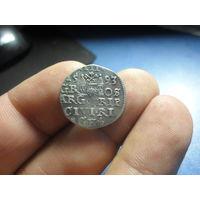 Трояк 3 гроша 1593 г. Сигизмунд 3 МД г.Рига
