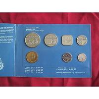 Комплект монет Аруба. 1992 г.