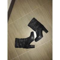Женские полусапожки, ботиночки из натуральной кожи 38 размера.