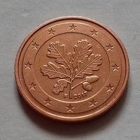 2 евроцента, Германия 2017 F, AU