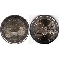 Финляндия, 2 евро 2018  Финская сауна
