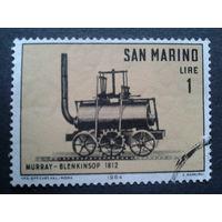 Сан-Марино 1964 паровоз