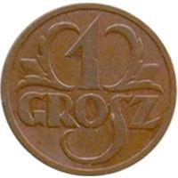 Польша 1 грош 1933г.(2)