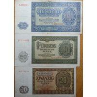 20 марок 50 марок 100 марок 1948г. Берлин