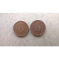 Латвия 1 евроцент, 2014г.