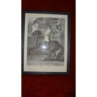 Старинная гравюра Германия,выс.43,2 см. шир.33,2 см