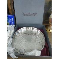 Поднос для сервировки. Металл, глубокое серебрение, гравировка. francis howard Великобритания, 1940-е гг.