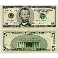 США. 5 долларов (образца 2003 года, P517a)