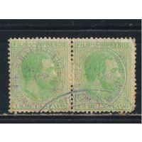Испания Колонии Филиппины 1887 Альфонс XII Надп Стандарт #118 пара