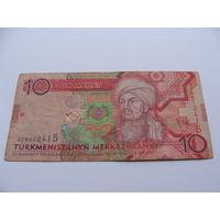 Туркменистан. 10 манат 2009 год