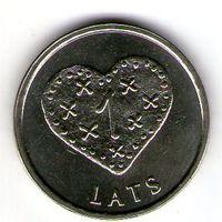 1 лат Пипаркукас. 2011 года UNC