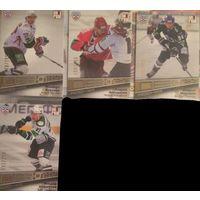 Хоккейные карточки. 4 штуки. КХЛ. Дебютанты 2012/2013. Тираж 299 экземпляров. Sereal.