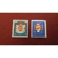 Монако 1954г. Герб