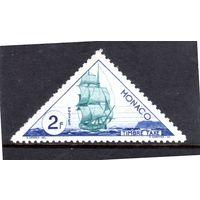 Монако.Ми-Р42 . Доплатная марка.Торговое судно, парусник. Серия: Транспортные средства.1953.