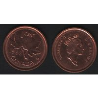 Канада _km289 1 цент 1998 год (тип-2) km289a не магнит (f32)
