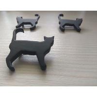 Брошь брошка ручной работы Чёрная кошка кот