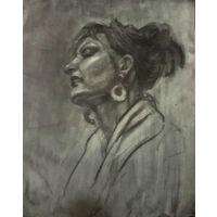 Рисунок академический примерно 60х76 см уголь бумага