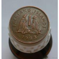 1 пенни 1983 Фолклендские острова Пингвин пореже год