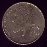 20 центов 1998 год Кипр