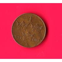 01-38 Швеция 1 эре 1927г.  Единственное предложение монеты этого года на АУ
