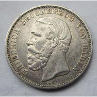 Германия, Баден, 5 марок, 1898, серебро
