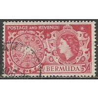 Бермуды. Королева Елизавета II. Старинная монета. 1953г. Mi#145.