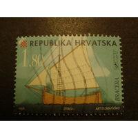 Хорватия 1998г. корабли