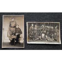 2 фото военных связистов. 1945 г. 8х12 см. Цена за оба.