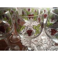 Бокалы чсср с виноградом