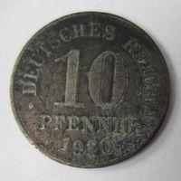 Германия. 10 пфеннигов 1920.  Не магнит.Цинк 2-87