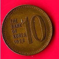 45-16 Южная Корея, 10 вон 1972 г.