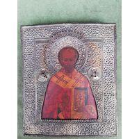 Икона Николай Чудотворец. Оклад серебро 84