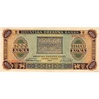 Хорватия, 1000 кун, 1943 г., UNC-