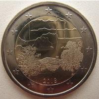 Финляндия 2 евро 2018 г. Финская сауна