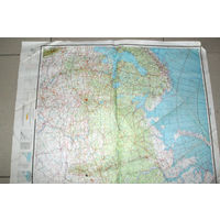 Редкая Аэронавигационная ПОЛИМАРШРУТНАЯ карта Москвы со всеми  штурманскими  выкладками.