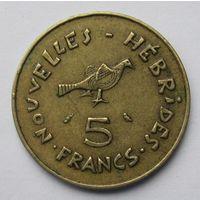 Новые Гебриды 5 франков 1970