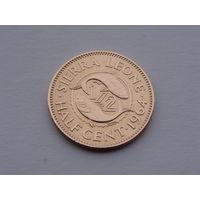Сьерра-Леоне. 1/2 цента 1964 год КМ#16 AU-XF