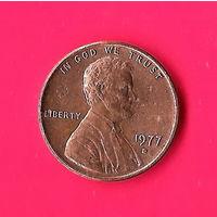 19-19 США, 1 цент 1977 г. (D)